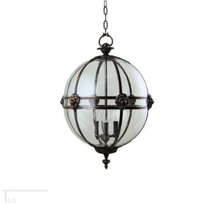 Traditional Ceiling Pendant Lights - Kansa Victorian Globe Pendant Ceiling Light GLOBE22 A