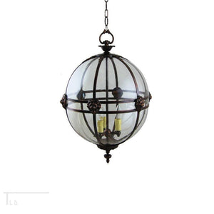 Traditional Ceiling Pendant Lights - Kansa Victorian Globe Pendant Ceiling Light GLOBE22 B