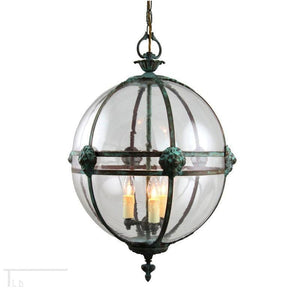 Traditional Ceiling Pendant Lights - Kansa Victorian Globe Pendant Ceiling Light GLOBE22 C