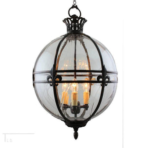 Traditional Ceiling Pendant Lights - Kansa Victorian Globe Pendant Ceiling Light GLOBE22 D