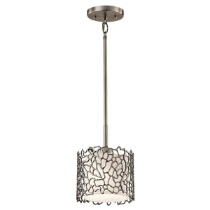 Traditional Ceiling Pendant Lights - Kichler Silver Coral Mini Pendant Ceiling Light KL/SILCORAL/MP
