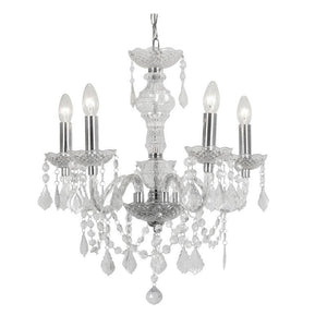 Traditional Ceiling Pendant Lights - Marie Therese 5 Light Acrylic Pendant Ceiling Light 7801/5