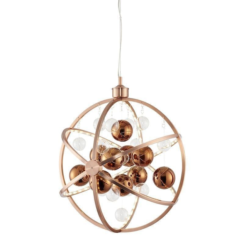 Muni Copper With Clear Copper Glass Pendant Ceiling Light Muni Co Tiffany Lighting Direct