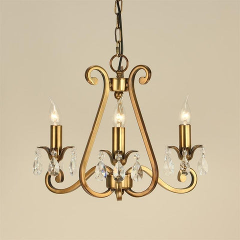 Tiffany lighting direct oksana antique brass chandelier oksana antique brass finish 3 light chandelier ul1p3b mozeypictures Image collections