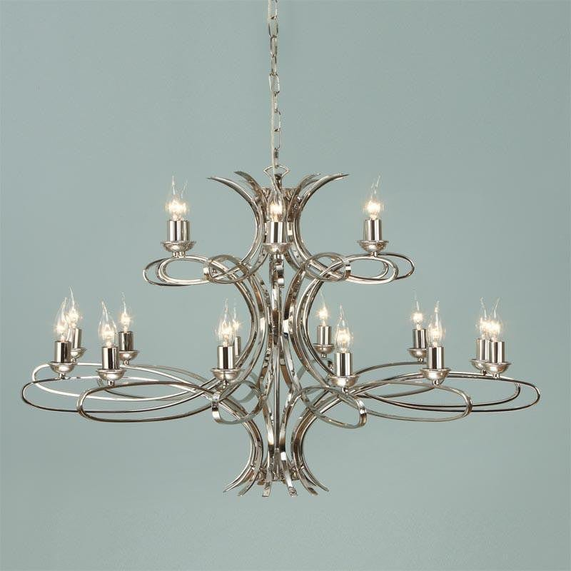 Penn 18 light polished nickel finish chandelier ca7p18n mozeypictures Choice Image