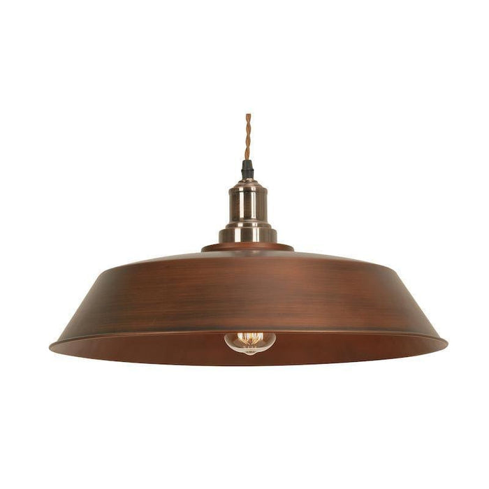 Ribe 1 Light Copper Painted Metal Vintage Ceiling Pendant Light 3582 CU