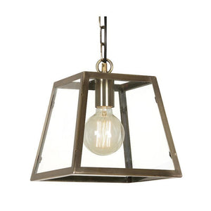 Traditional Ceiling Pendant Lights - Riga 1 Light Antique Brass Ceilling Pendant Light 1524/1 AB