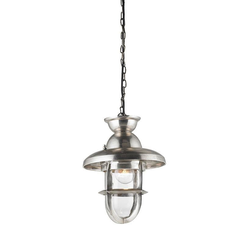 Traditional Ceiling Pendant Lights - Rowling Large Tarnished Silver Finish Pendant Ceiling Light EH-ROWLING-L
