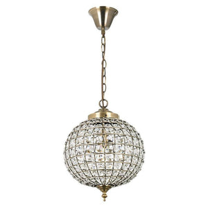 Traditional Ceiling Pendant Lights - Tanaro Antique Brass & Clear Glass 1LT Pendant Ceiling Light EH-TANARO-AB