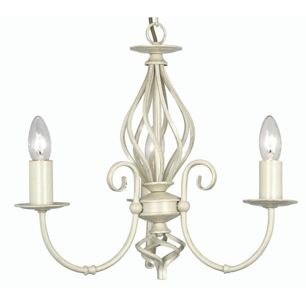 Traditional Ceiling Pendant Lights - Tuscany Ivory Finish 3 Light Chandelier 3380/3 IV