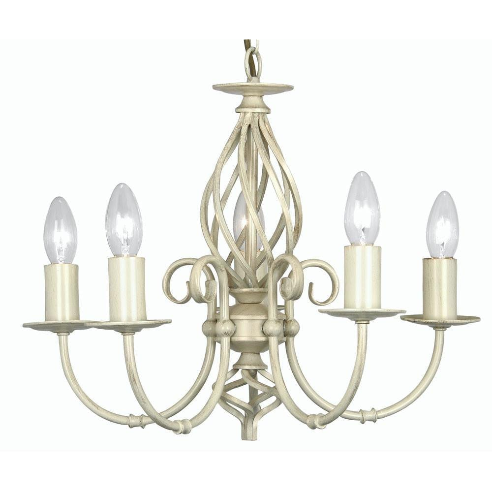 Traditional Ceiling Pendant Lights - Tuscany Ivory Finish 5 Light Chandelier 3380/5 IV