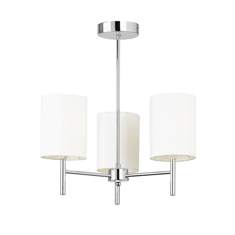 Traditional Flush & Semi Flush Ceiling Lights - Brio 3 Arm Chrome Finish Semi Flush Ceiling Light BRIO-3CH