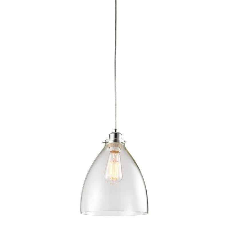 Traditional Non Electric Ceiling Pendant Lights - Elstow Clear Glass And Chrome Finish Non Electric Ceiling Pendant Light 60874
