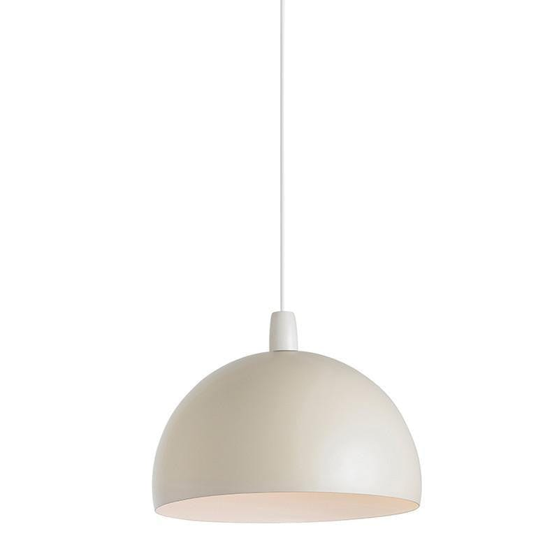 Traditional Non Electric Ceiling Pendant Lights - Newsome Matt Cream Painted Non Electric Ceiling Pendant Light NE-NEWSOME-CR