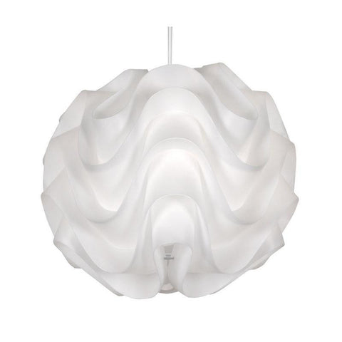 Traditional Non Electric Pendant - Akari White Non Electric Pendant Ceiling Light 430 WH