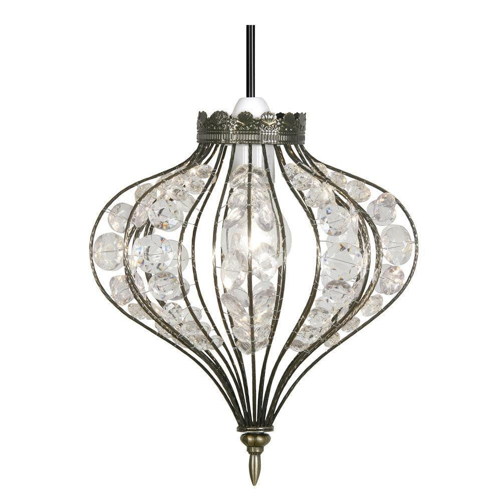 Traditional Non Electric Pendant - Braga Antique Brass Non Electric Pendant Ceiling Light 147 AB