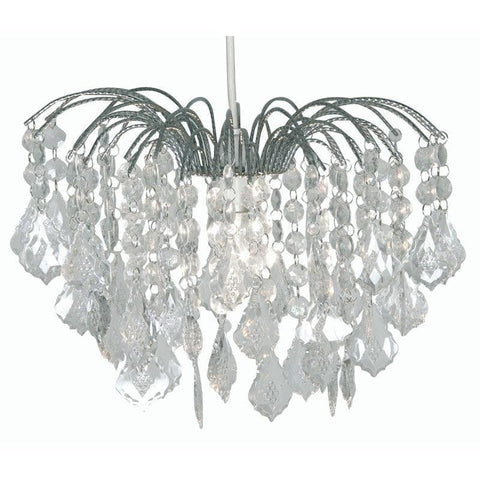 Traditional Non Electric Pendant - Dacia Chrome Large Non Electric Pendant Ceiling Light 695 L CH
