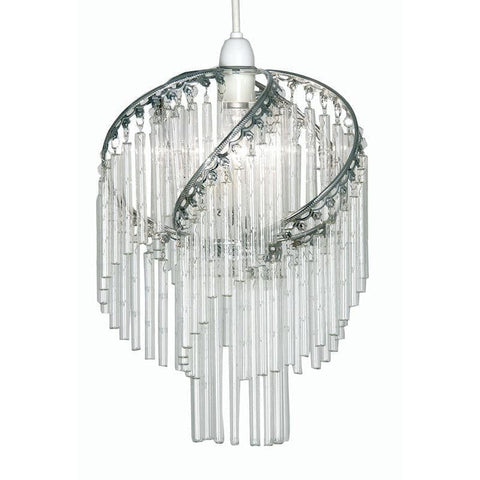 Traditional Non Electric Pendant - Dara Chrome With Glass Rods Non Electric Pendant Ceiling Light 420 CH