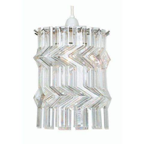Traditional Non Electric Pendant - Satu Chrome With Pearl Zig Zag Non Electric Pendant Celing Light 237 CH