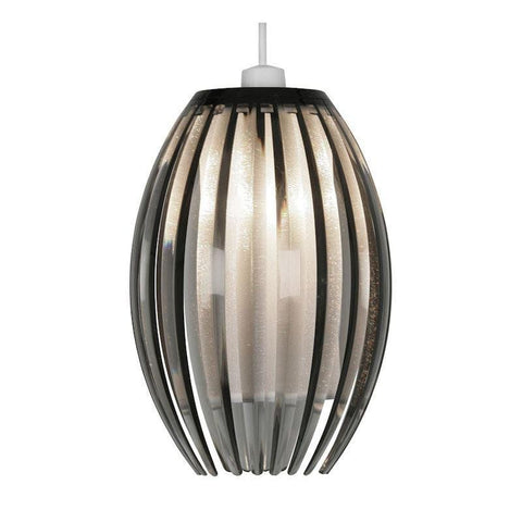 Traditional Non Electric Pendant - Shimna Smoked Acrylic Non Electric Pendant Ceiling Light 669 S SM