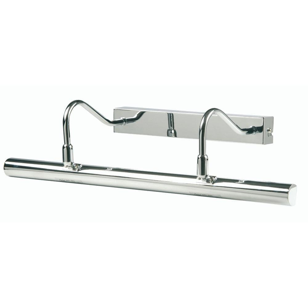Traditional Picture Lights - Double Arm Chrome Finish Picture Light PL G9D CH By Oaks Lighting
