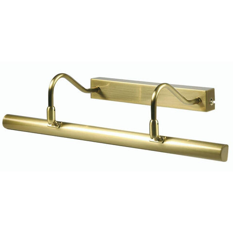 Traditional Picture Lights - Double Arm Satin Brass Finish Picture Light PL G9D SB By Oaks Lighting
