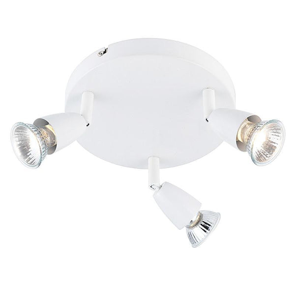 Traditional Spotlights - Amalfi Gloss White Finish 3 Light Spotlight 43283