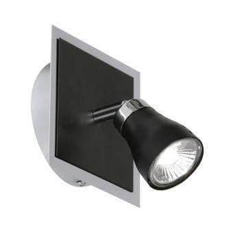 Traditional Spotlights - Milo Black With Chrome Finish Single Spotlight 7101 BK