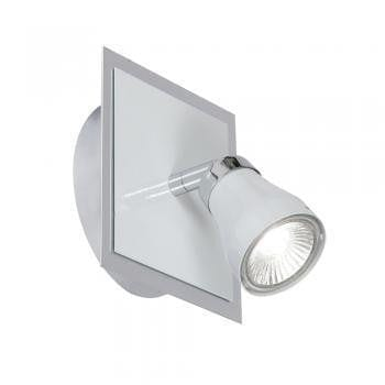 Traditional Spotlights - Milo White With Chrome Finish Single Spotlight 7101 WH