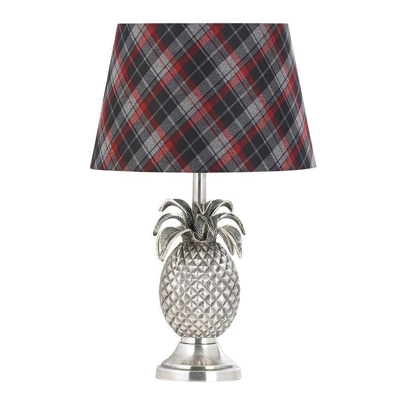 Traditional Table Lamps - Pineapple Pewter Finish Table Lamp (Base Only) EH-PINEAPPLE-TL