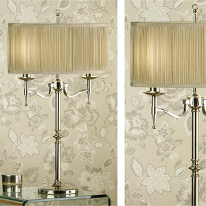 Traditional Table Lamps - Stanford Polished Nickel Finish Table Lamp 63650