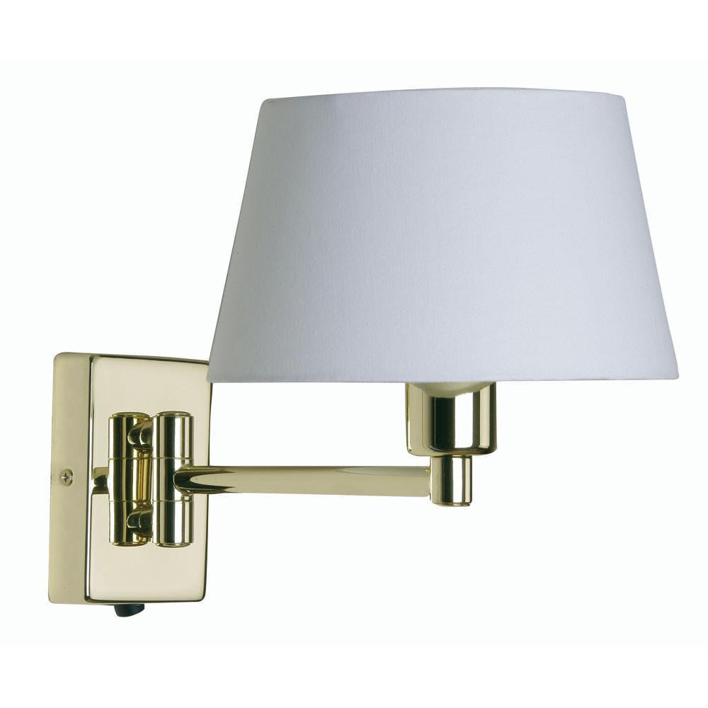 Traditional Wall Lights - Armada Polished Brass Finish Single Swing Arm Wall Light (fitting Only) 721 PB