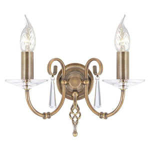 Traditional Wall Lights - Elstead Aegean Aged Brass 2lt Wall Light AG2 Aged Brass