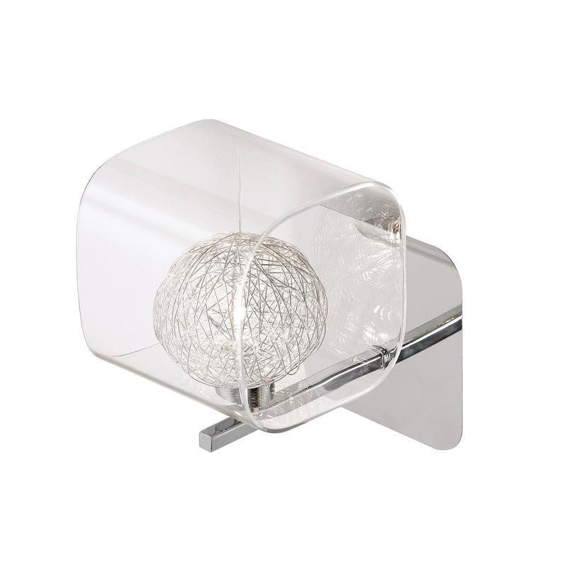 Traditional Wall Lights - Lisbon 1 Light chrome Wall Light 1518/1 CH