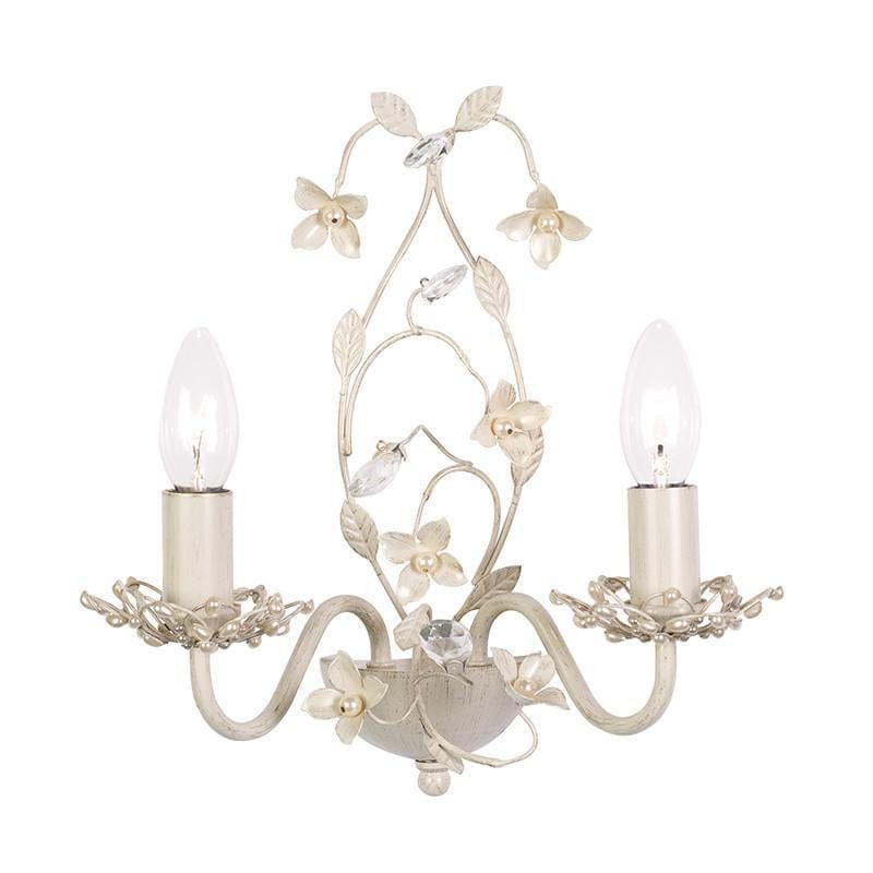 Traditional Wall Lights - Lullaby Cream And Gold Painted Twin Arm Wall Light LULLABY-2WBCR