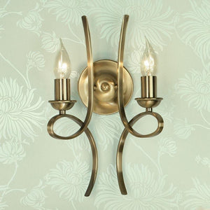 Traditional Wall Lights - Penn Brushed Brass Finish Wall Light CA7W2BB