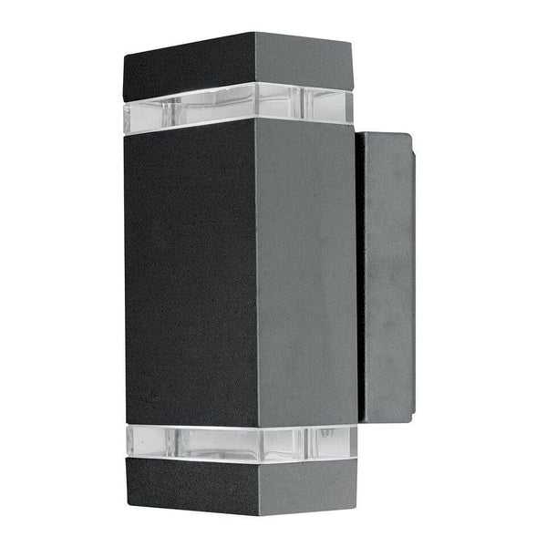Elstead Focus Dark Grey 2 LED Outdoor Wall Light