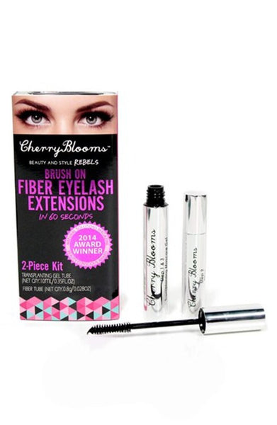 Brush On Fiber Eyelash Extensions Kit