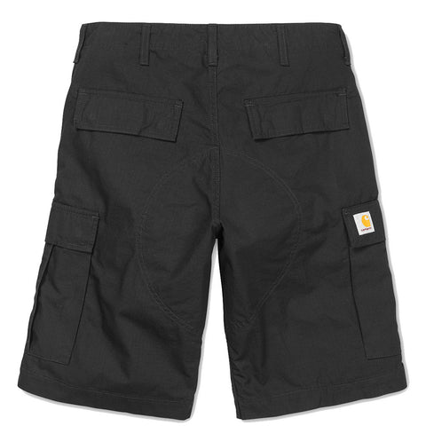 CARHARTT // REGULAR CARGO SHORT BLACK RINSED