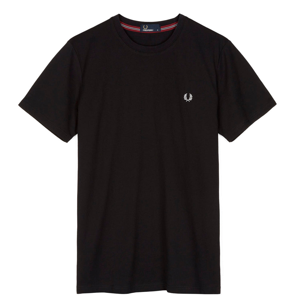 FRED PERRY // CREWNECK T-SHIRT BLACK