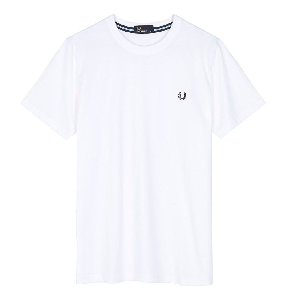 FRED PERRY // CREWNECK T-SHIRT WHITE