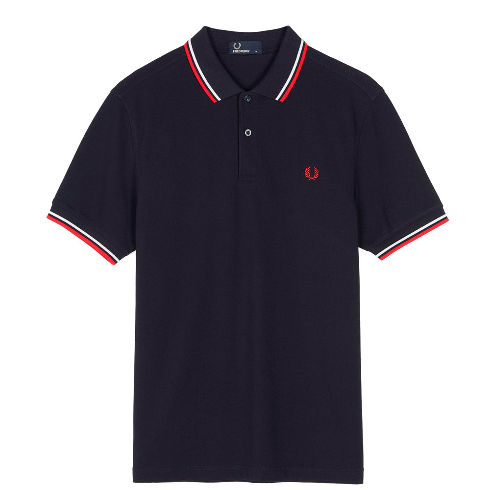 FRED PERRY // POLO NAVY RED