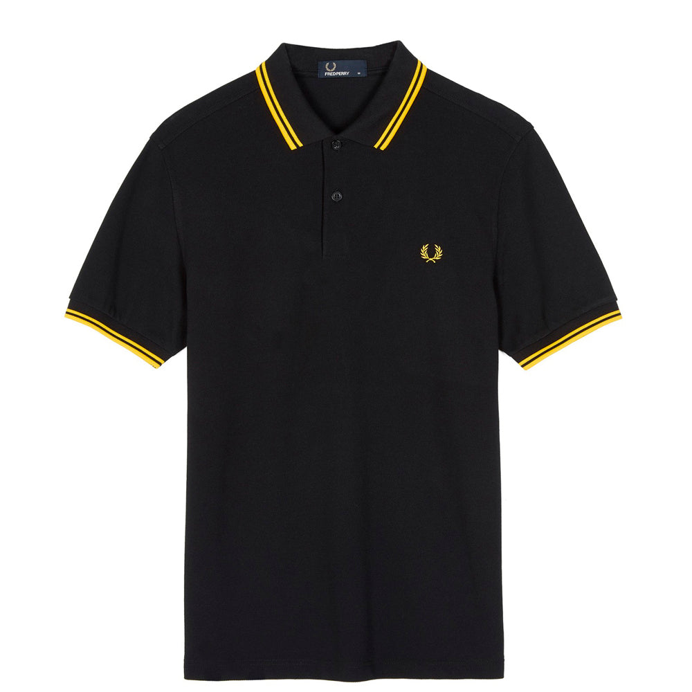 FRED PERRY // POLO BLACK YELLOW