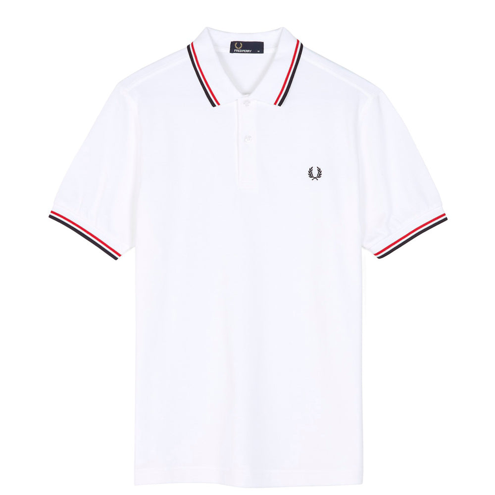 FRED PERRY // POLO WHITE RED