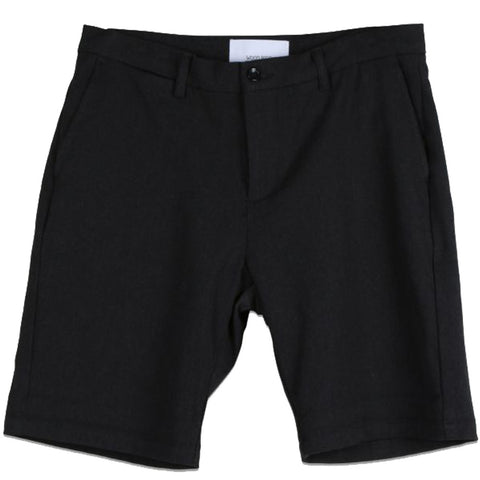 WOODBIRD // STEFFEN TWILL SHORTS BLACK