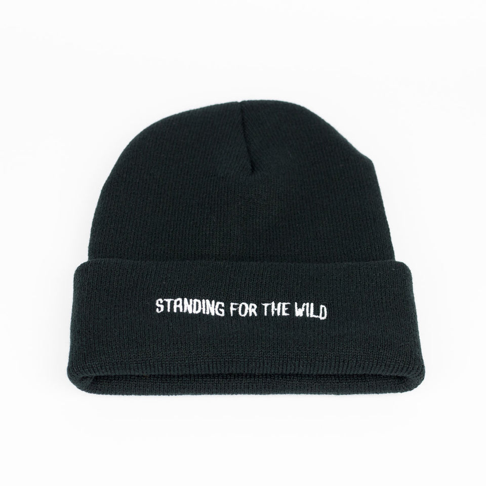 Standing for the Wild - Black Beanie