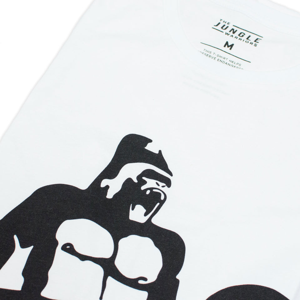 George The Gorilla - White Tee