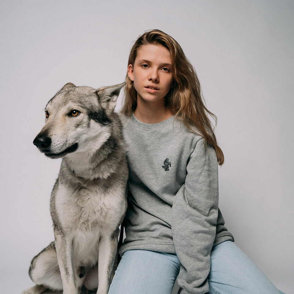 Walter The Wolf - Grey Sweatshirt