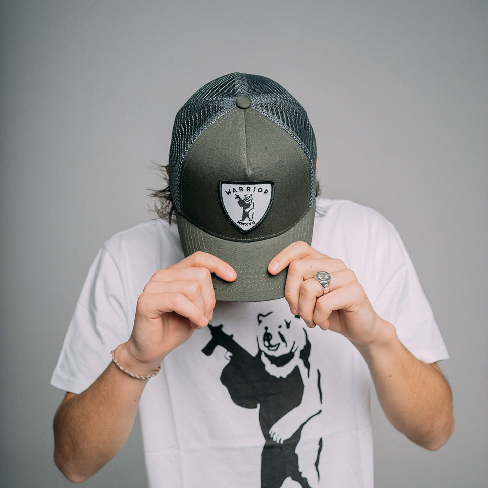 Billy The Bear - Grey Trucker Cap