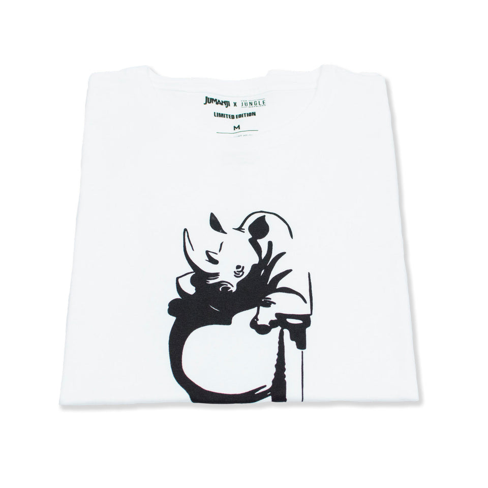 Robin The Rhino - White Tee